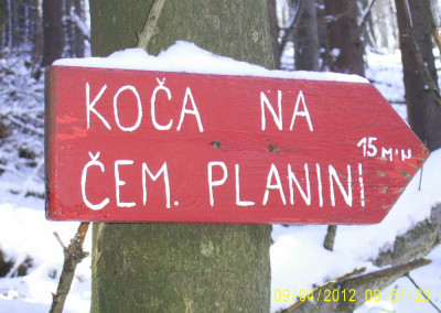 ČEMŠENIŠKA PLANINA, 9. april 2012