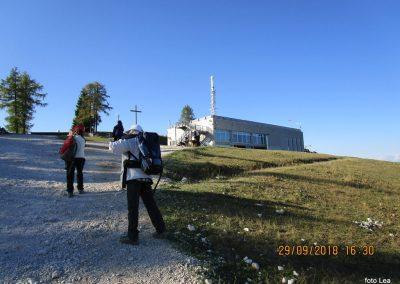 118 Svete Višarje - zgornja postaja žičnice, 16.26