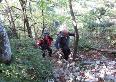 23 SLJEME, vzpon proti planinskemu domu na Hunjki - 'Horvatove stube', 10.34