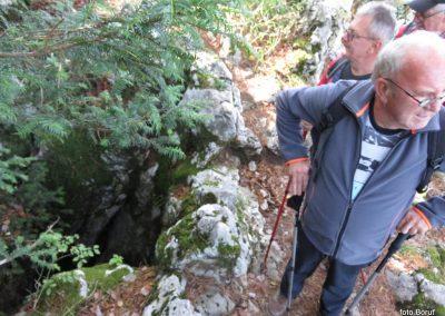 25 SLJEME, vzpon proti planinskemu domu na Hunjki - 'Horvatove stube', 10.35