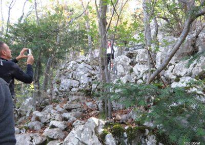 26 SLJEME, vzpon proti planinskemu domu na Hunjki - 'Horvatove stube', 10.35
